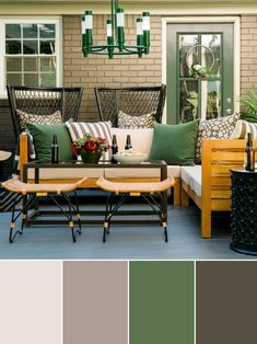 The color experts at HGTV.com share creative and unexpected fall color palette…