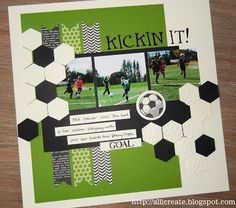 sports layouts for scrapbooking | Found on feedly.com