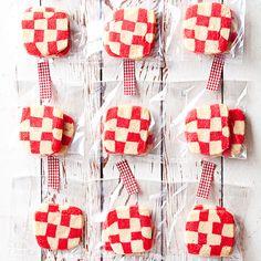 Red Plaid Cookies