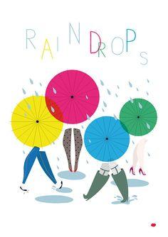 Je le veux !!!  Raindrops par mzellefraise sur Etsy, €35,00