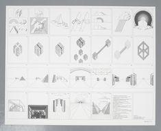 "Superstudio Lithograph ""Un viaggio nelle ragioni della ragione"", Italy, 1970 Ink Stamps, Mid Century Modern Design, Midcentury Modern, Arch, Art Gallery, Monogram, Drawings, Longbow, Art Museum"