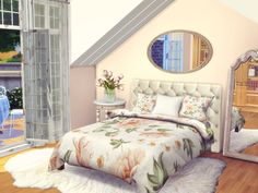 Bring joy to your sims bedrooms qith this flower power set! Found in TSR Category 'Sims 4 Decorative Recolor Sets' Floral Bedding, Gray Bedding, Bedding Decor, Rustic Bedding, Quilt Bedding, Bedding Sets, Sims 4 Bedroom, Teen Bedroom, The Sims 4 Pc