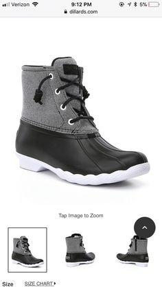 Sperry S R Duck Boot Black Gray White