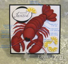 This punch art lobster is absolutely amazing!!!! Can't wait to try.