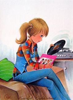 vinyl love -- I remember loving to stare/read my album covers too! Album Cover Artwork and photos ruled! Vintage Music, Retro Vintage, Pin Up, Vinyl Junkies, Pulp, Record Players, Vintage Vinyl Records, Kinds Of Music, Big Eyes