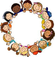 ◗ [Nulled]◛ Children In Circle White Background Baby Background Birthday Child Childhood Circle Clip Art, Kindergarten, School Clipart, Borders And Frames, Classroom Decor, Coloring Pages, Crafts For Kids, Preschool, Childhood