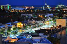 Townsville, Queensland, Australia at night. Capital of Far North Queensland