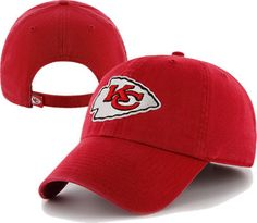 Kansas City Chiefs 47 Brand Adjustable Clean Up Cap at End Zone Apparel