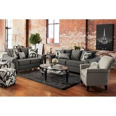 Urban florals are our favorite kind of florals!  Colette Gray 2 Pc. Sleeper Living Room | Value City Furniture