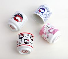 Adorable traditional style Hello Kitty mugs