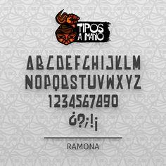 Tipografía Ramona, basada en la Brigada Ramona Parra