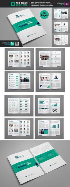 Clean Brochure Template   Brochure Template Brochures And
