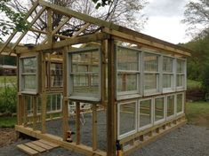 DIY greenhouse! Architecture, diy, gardening, outdoor living