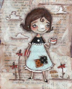 Original Cereal Box Art Painting  Enough  by DUDADAZE on Etsy, $27.00 ©dianeduda/dudadaze