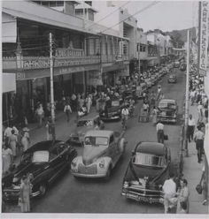Frederick street, Port of Spain 1954 Port Of Spain Trinidad, Trinidad Caribbean, Trinidad And Tobago, Trinidad Culture, Park Hotel, Famous Places, Black And White Pictures, Animal Quotes, Old Pictures