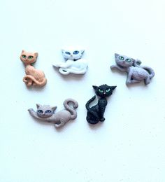 Cat Buttons, Nine Lives by Jesse James, Shaped Buttons, Dress It Up Buttons, Scrapbooking, Supplies, Novelty, Sewing by BeadsButtonsShop on Etsy