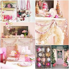 a pink christmas ( i actually have some of the ornaments in #2 - they were my grandmas)