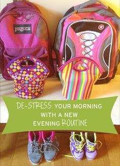 Back to School: De-stress Your Morning with a New Evening Routine Evening Routine, My Home Design, School Organization, Organization Ideas, Time Management Tips, Healthy People 2020 Goals, Back To School, School Kit, School Hacks