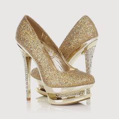 High heels have the lovable vogue for the ladies. Bride Shoes, Wedding Shoes, High Heels Gold, Shoe Boots, Shoes Heels, Bridal Heels, Expensive Shoes, Prom Heels, Cute Heels