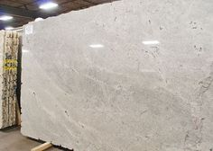 Himalaya White (granite): This was one of the cleanest white granite slabs we came across. Photo from - Rita from designmegillah