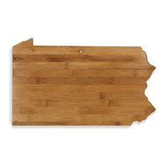 Totally Bamboo Pennsylvania State Shaped Cutting/Serving Board - BedBathandBeyond.com