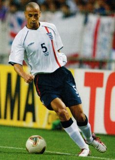 Rio Ferdinand of England in action at the 2002 World Cup Finals.