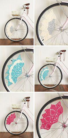 Bicicletas con detalle de ganchillo - Fácil y Sencillo | Fácil y Sencillo