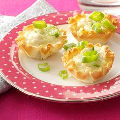 Mini Crab Tarts Recipe from Taste of Home