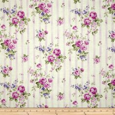 Zoey Christine Sugar Berry from @fabricdotcom  Designed by Eleanor Burns for Benartex, this cotton print fabric is perfect for quilting, apparel and home decor accents. Colors include pink, green, purple and cream.