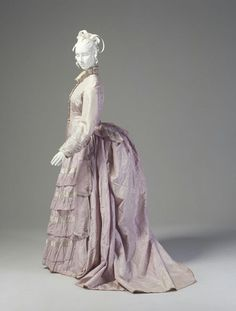 powerhouse museum vintage fashion | Afternoon dress, ca. 1876. From the Powerhouse Museum.