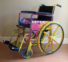 Heather says: I truly hope that if/when it is time for a wheelchair I can have it painted like a rainbow, so I can still make people smile. My Grandma wouldn't use one and missed out on more than she should have.