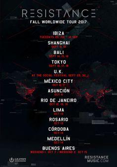 #housemusic Ultra Worldwide's RESISTANCE Announces Massive Fall Tour: Having already taken over Ibiza earlier this summer, making a…