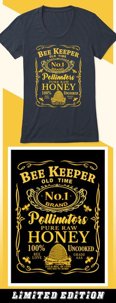 Vintage Bee Keeper - Limited edition. Order 2 or more for friends/family & save on shipping! Makes a great gift!