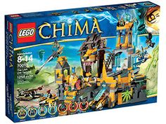 LEGO Chima 70010 The Lion CHI Temple This all-time favorite set includes 7 minifigures, drawbridge trap, 4 vehicles, a rotating tower cannon, and much more!