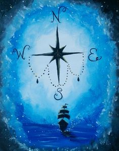 Compass Dream at Donkey Tails Cantina - Paint Nite Events near Draper, UT>