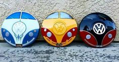 Decorated Vw hubcaps
