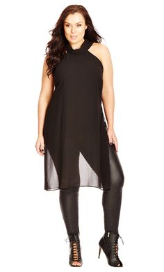 City Chic Sexy Sheer Top - Black - Women's Plus Size Fashion City Chic - City Chic Your Leading Plus Size Fashion Destination #citychic #citychiconline #newarrivals #plussize #plusfashion