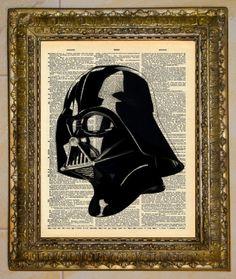 Darth Vader Dictionary Art.  by atthedrivein