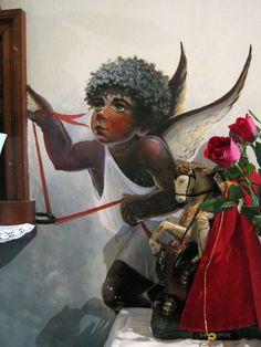 Anjo Negro da Igreja de Santa Luzia no Rio de Janeiro.