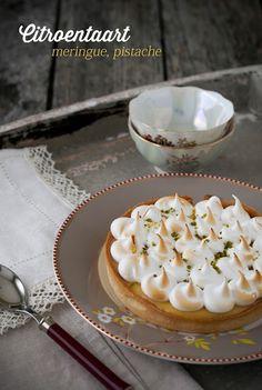 Hap & tap: Citroentaart, meringue, pistache