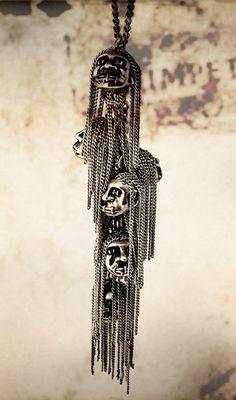 Tobias Wistisen - Shrunken head necklace. Way too cool. #urbanoutfitters