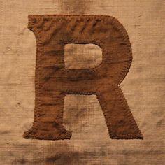 Letter R - for frames