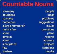 Forum   ________ English Grammar   Fluent LandCountable Nouns in English   Fluent Land