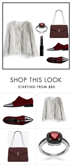 """""""J"""" by ena07-dlxx ❤ liked on Polyvore featuring Marni, Chicwish, Yves Saint Laurent, Journee Collection and Witchery"""