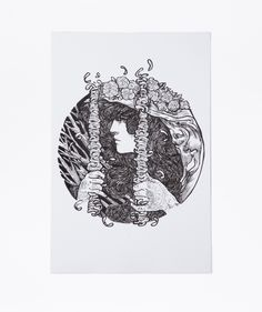 """The magnificent drawing art called """"Untitled 1″. Drawing: Paper, Pencil and India Ink. Size without frame:33 CM X 21.5 CM. 2014 http://www.zocko.com/z/JJtvQ"""