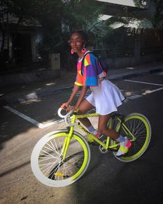 Black Girl Magic, Black Girls, Black Women, Female Cyclist, Cycle Chic, Bicycle Girl, Bike Style, Girl Outfits, Fashion Outfits