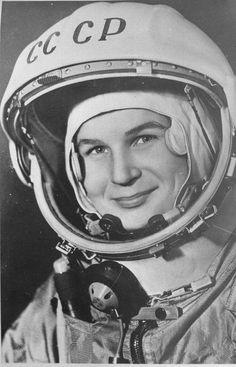 A cosmonauta Valentina Tereshkova, a primeira mulher no espaço, em 1963.