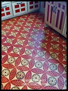 Custom Modello™ Designs stenciled floor at the Artworks Spokane studio in Washington.