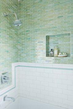 luminescent green tile, beautiful.