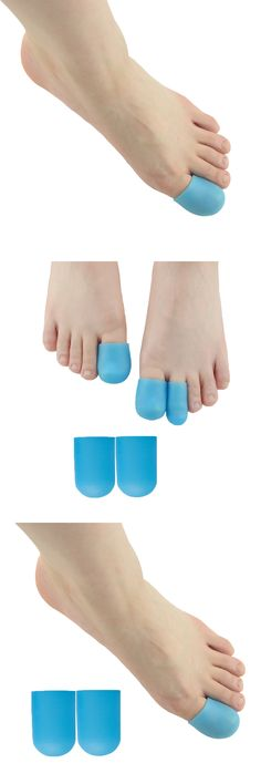 2Pcs Blue Big Toe Hallux Valgus Gel Toe Foot Remover Blisters Bunion Finger Protector Foot Massager Insoles Feet Care Z66301